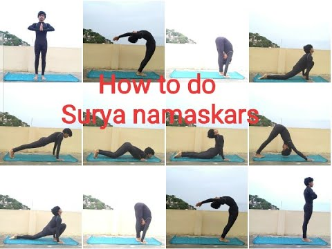 how to learn surya namaskar in 5 mins // yoga in telugu