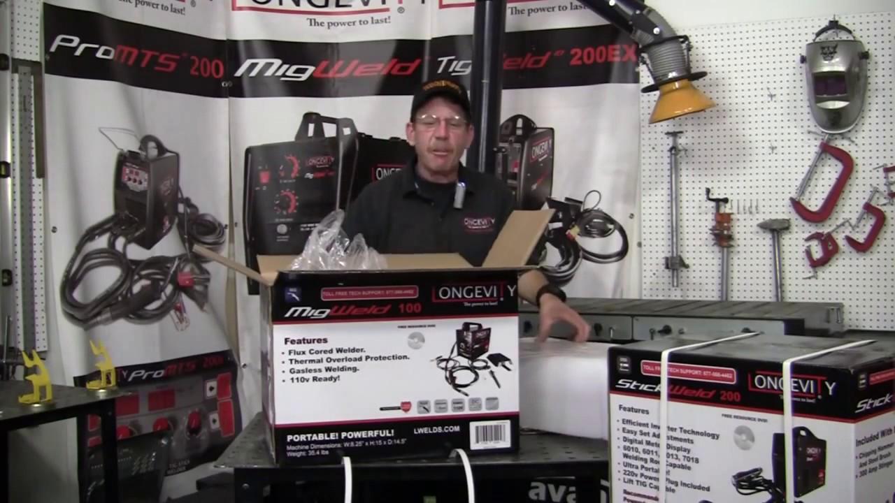 Longevity MIGWELD 100 Setup Review Mig Welder 90 Amp Flux Cored Mig ...