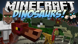 Minecraft | DINOSAURS! (Enter the Jurassic Dimension!) | Mod Showcase