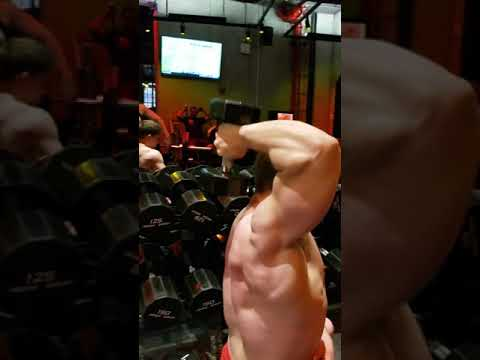 Seated one arm dumbbell tricep extensions
