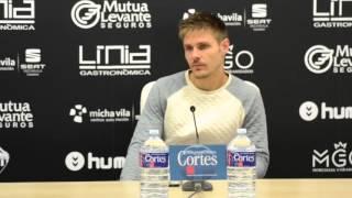 Rueda de prensa de Guille Vázquez tras la victoria ante el Torre Levante (22/11/2015)