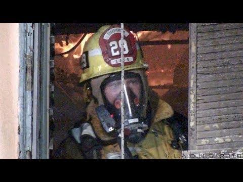 LAFD / June Street House Fire / Hancock Park District