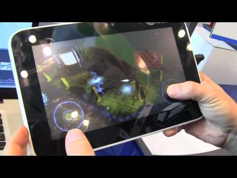 NVIDIA Tegra 2 Prototype Tablet Running Unity 3D Game