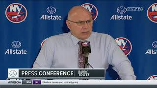 Barry Trotz: We Couldn't Get Going   New York Islanders Post Game