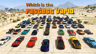GTA V Which is the fastest Vapid | Ford of GTA