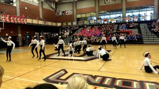 Mountain View dance team kick routine @ Union 2014