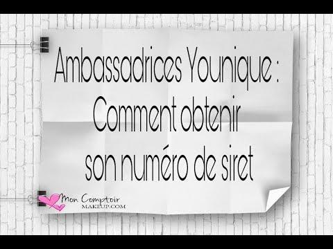 Formation Younique Comment Obtenir Son Numero De Siret Youtube