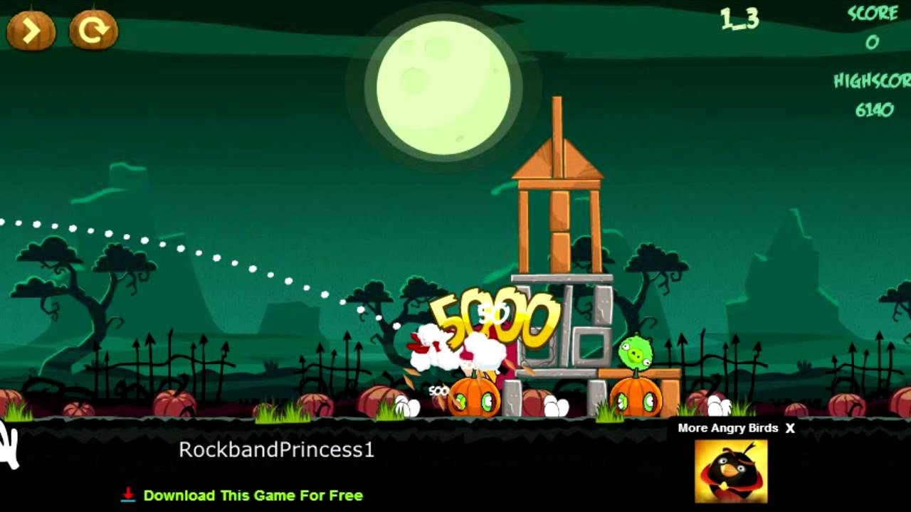 Angry birds online games angry birds halloween game youtube voltagebd Gallery