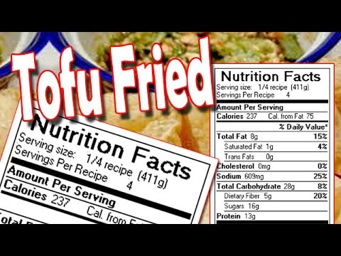 Tofu Nutrition Facts Youtube