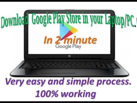 How To Download Google Play Store App In Your Laptop/PC | Without Blustacks ( In Hindi)