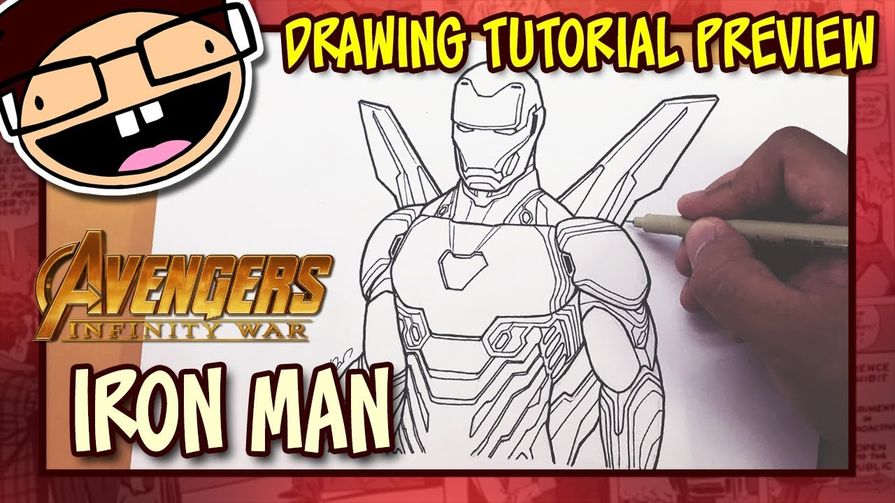 Preview How To Draw Iron Man Avengers Infinity War Drawing