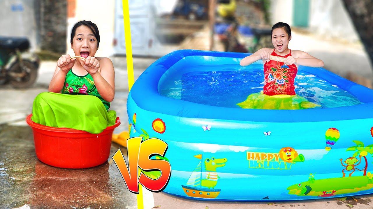 Bể Bơi Chị Em ❤ Bẻ Gãy Bó Đũa ❤ Trang Vlog