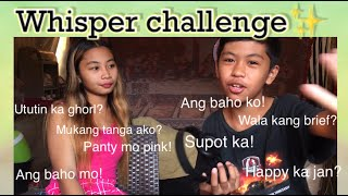 Whisper challenge with ate | LT talaga to guys 😂
