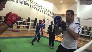 AliReza Esteki Training Iran Boxing Team  (تمرينات تیم ملی بوکس ایران (عليرضا استكى