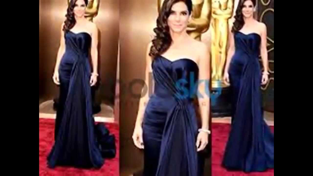 Red Carpet Hairstyles The Oscars 2014 Sandra Bullock Red Carpet
