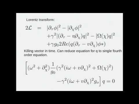 Bill Unruh - Optical Dumb holes -- Thermal emission from model...