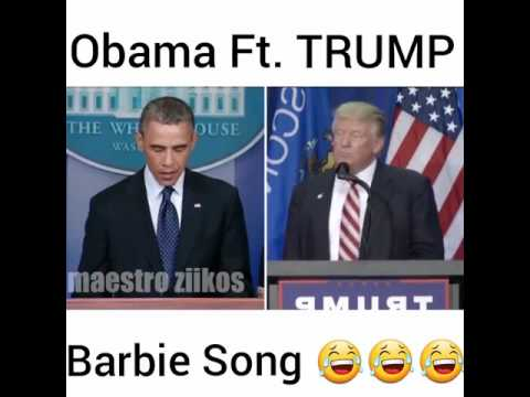 Obama Y Trun Cantan Barbie Gir