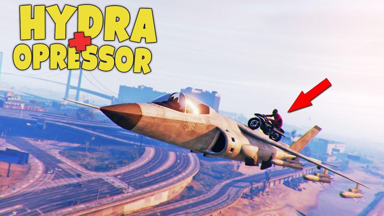 HYDRA + OPRESSOR – STUNTY   GTA ONLINE GUNRUNNING /PAVEL