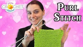 Knitting the Purl Stitch - Easy Dishcloth Starter Tutorial!