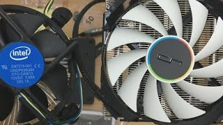 Cryorig C7 CPU cooler review, installation vs Intel stock cooler