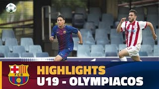[HIGHLIGHTS] YOUTH LEAGUE: FC Barcelona – Olympiacos (5-0)