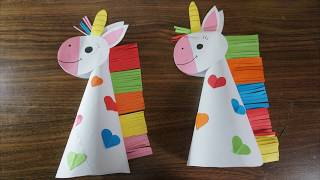 Paper unicorn crafts for kids || paper craft art