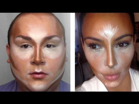 Contour à la Kim Kardashian! - YouTube