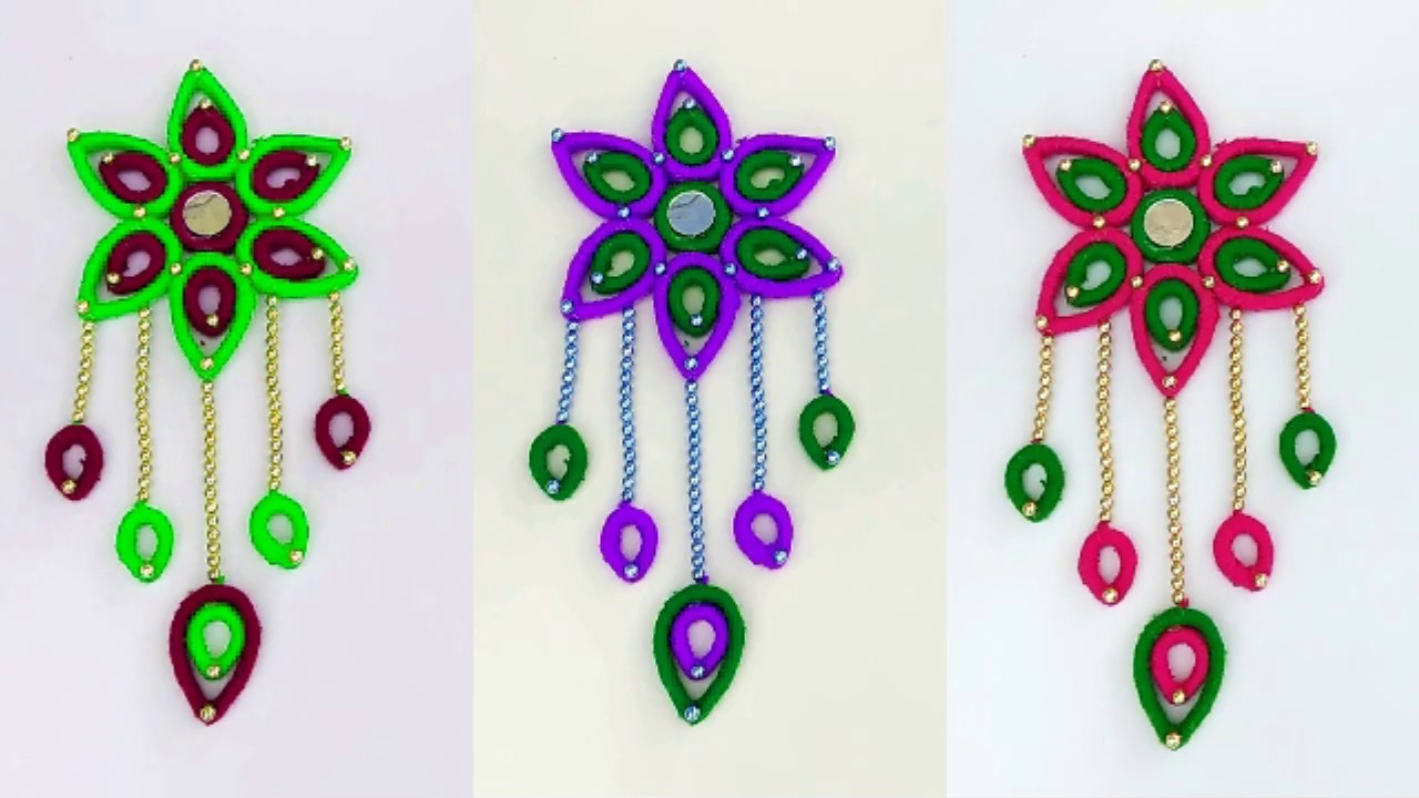 Wall Hanging Craft How To Make Wall Hanging Toran From Woolen