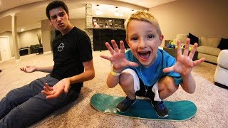 6 YEAR OLD BEATS ME IN CARPETBOARD S.K.A.T.E. AGAIN?!