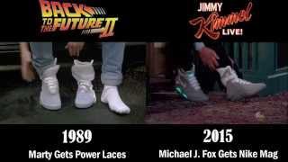 Marty / Michael J. Fox wears Nike Mag《回到未來》自動綁帶波鞋面世