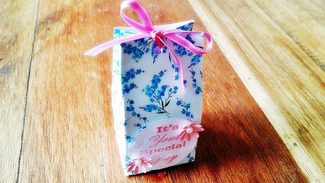 Basteln Geschenkverpackung Ganz Einfach Selbst Basteln Diy Basteln Mit Papier