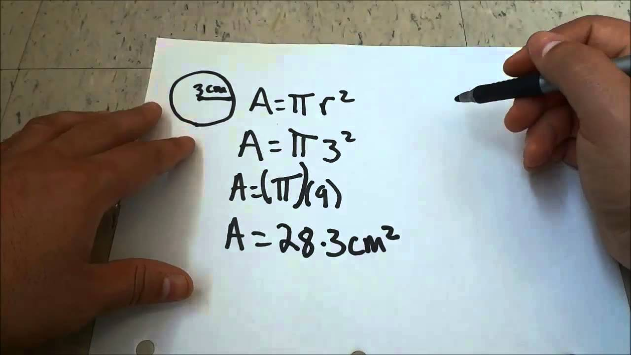 Finding The Area Of A Circlemath Lesson With 2 Examples