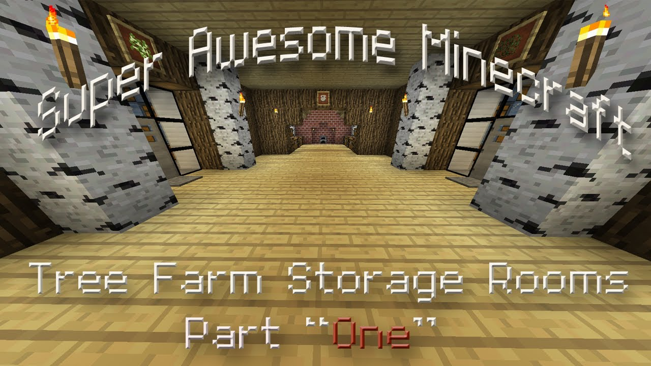 Minecraft How To Make An Awesome Storage Room For Your House Part One