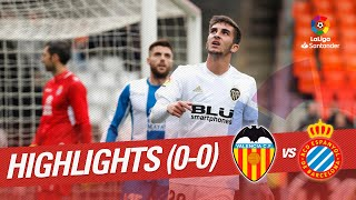 Highlights Valencia CF vs RCD Espanyol (0-0)