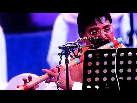 Ilaiyaraaja Punnagai Mannan Theme In Flute At Erode Live Concert(Feb 2019)