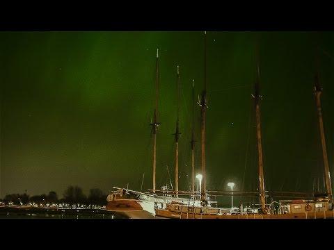 Aurora Borealis in Helsinki (northern lights)