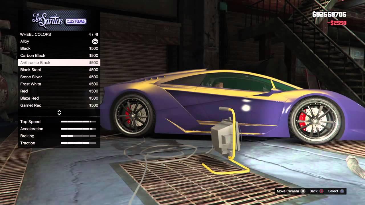Gta V Midnight Purple Zentorno Paint Job Youtube