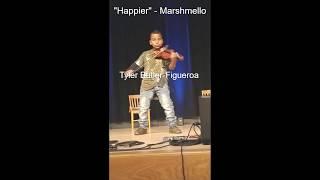 """""""Happier"""" Marshmello ft. Bastille (violin cover) Tyler Butler-Figueroa, Violinist"""