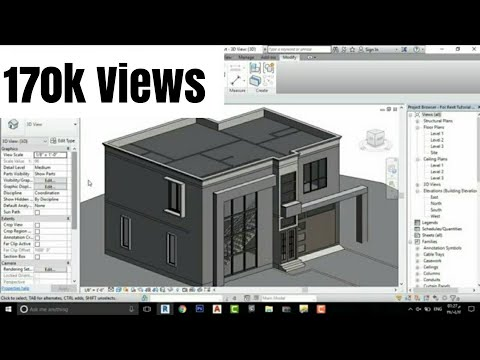 Revit architecture modern house design 2 youtube for Revit architecture modern house design