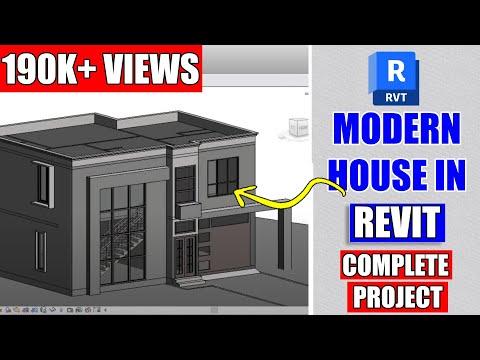 Modern House Design In Revit Architecture Tutorial 4 Youtube