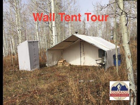 Wall Tent Tour - Deer Elk Hunting Camp Setup - Davis Tent