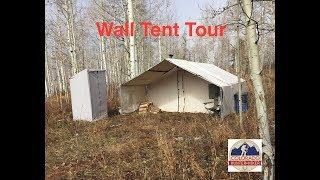 Wall Tent Tour - Dęer Elk Hunting Camp Setup - Davis Tent