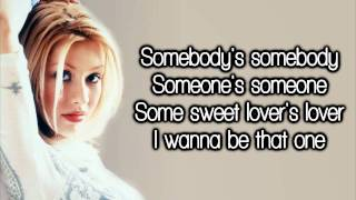 Christina Aguilera - Somebody