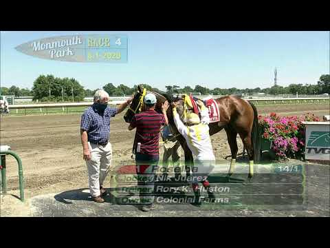 video thumbnail for MONMOUTH PARK 08-01-20 RACE 4