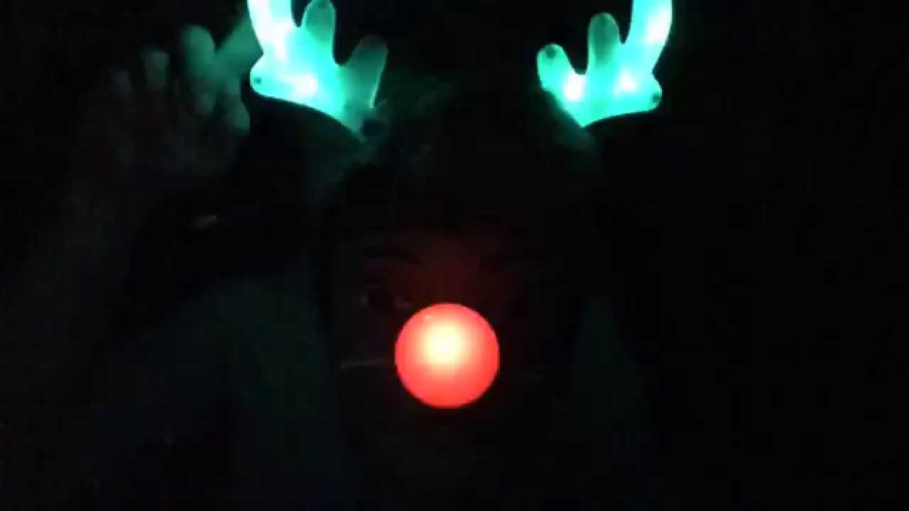 Light Up Red Nose Reindeer Gift Set