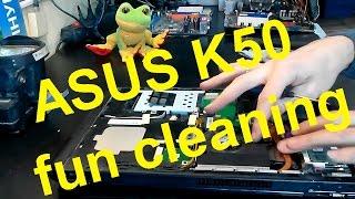 ASUS K50I laptop take apart fun cleaning on K40, K50, K70 video tutorial