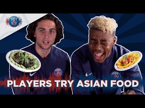 PARIS SAINT-GERMAIN PLAYERS TRY ASIAN FOOD