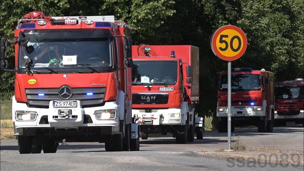 Polska brandbilar i Sverige (förstärkning till skogsbränder) [SE | 7.2018]