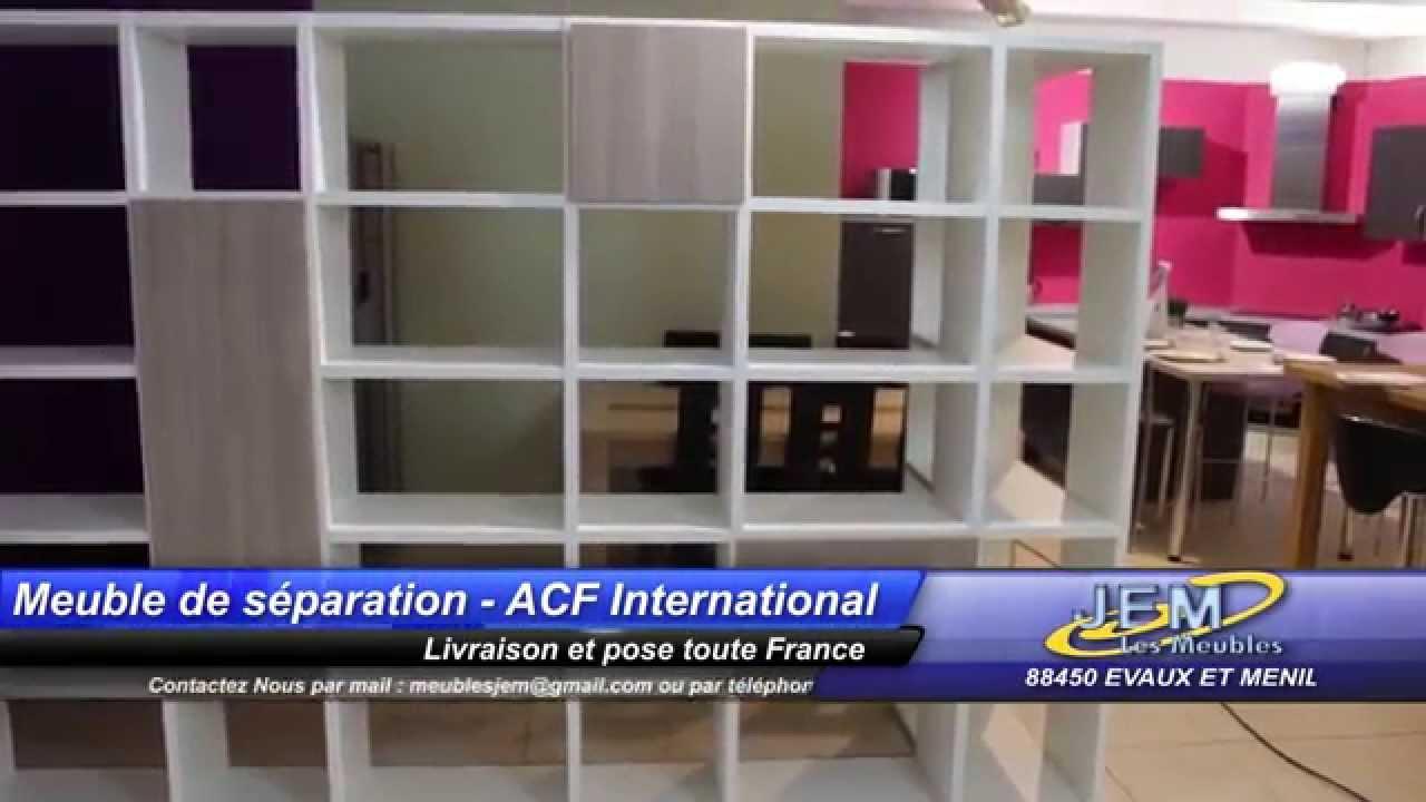 bibliotheque meuble de separation acf international