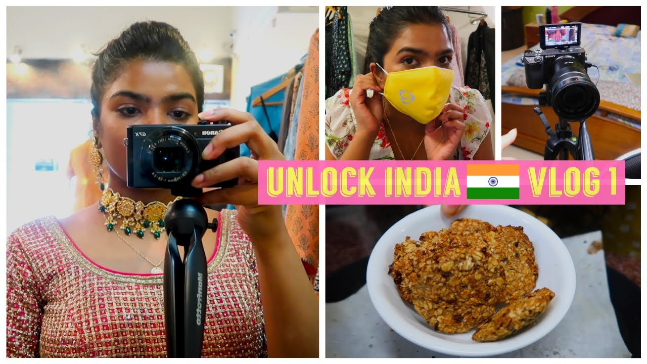 A Day in my life | Unlock India Vlog #1| Bridal Outfit photoshoot, my TWIN is home, my studio tour